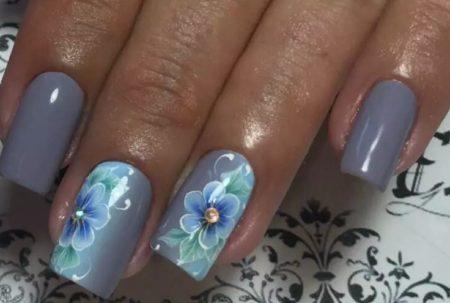 Дизайн ногтей узоры и цветы фото красивого маникюра