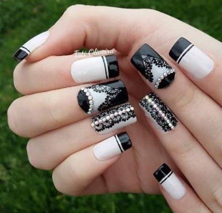 Дизайн ногтей ажурный фото красивого маникюра