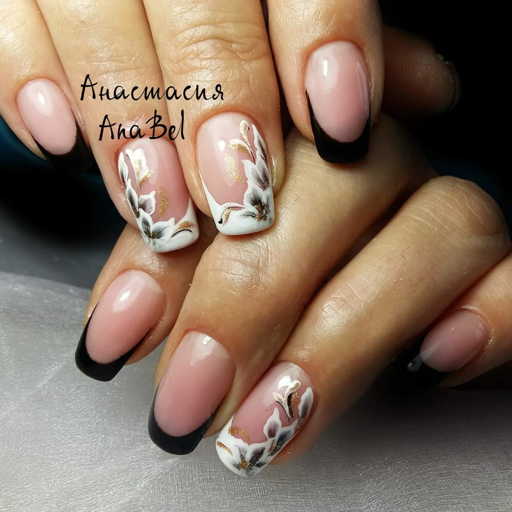 Фото ногти и цветы фиолетового цвета