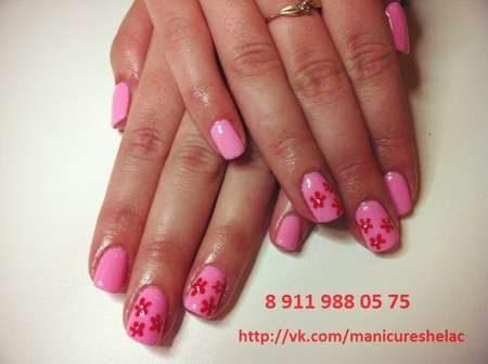 дизайн ногтей цветочки