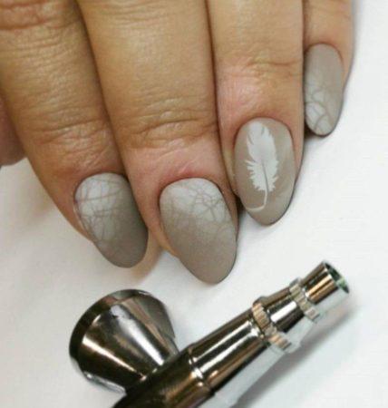 Аэрография на ногтях — 57 фото оригинального дизайна ногтей