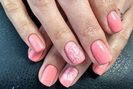Дизайн ногтей аэрогафия нежный розовый