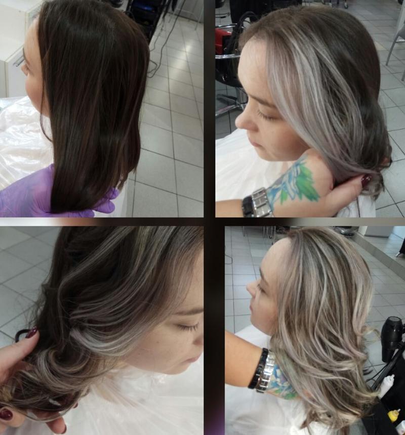 контуринг волос фото