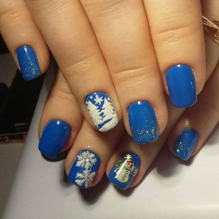 зимний маникюр ногти