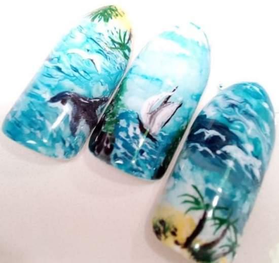 akvarelnyj-manikyur-6 Очень красивый дизайн ногтей - 453 фото шикарного маникюра