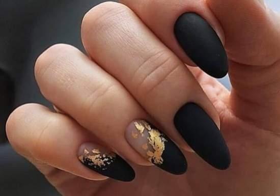 Золотая фольга и матовый черный