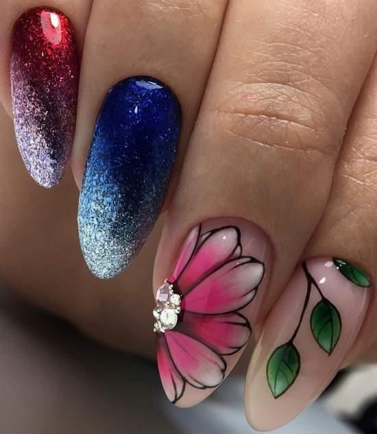 ombre-manikyur-16 Очень красивый дизайн ногтей - 453 фото шикарного маникюра