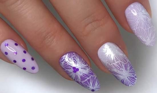 нежное омбре на ногтях