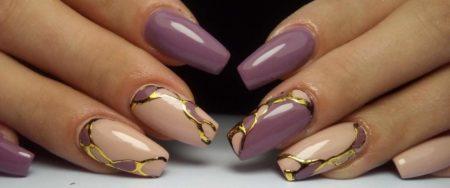 Актуальный маникюр на квадратные ногти с дизайном