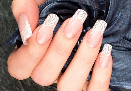 Френч-фото модного дизайна ногтей