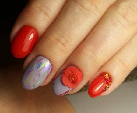 Дизайн ногтей с росписью фото