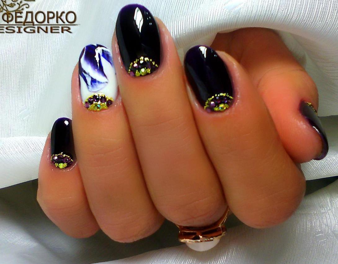 Гель-лак ногти- Фото модного маникюра с дизайном - Фото ...