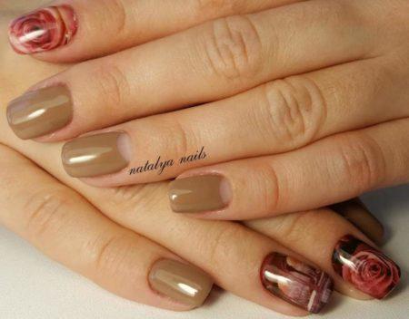 Модный дизайн ногтей гель-лаком