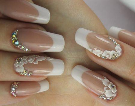 Дизайн ногтей фото свадебного маникюра