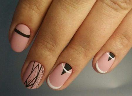 Дизайн ногтей геометрия фото красивого маникюра