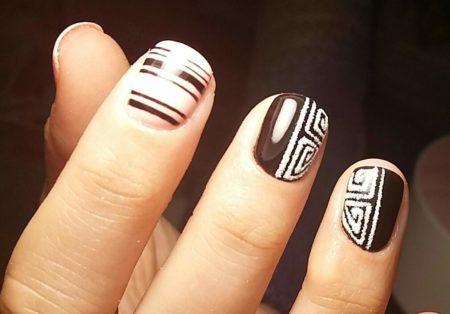 Красивый дизайн на короткие ногти фото