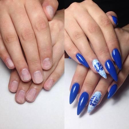красивый летний маникюр на длинные ногти