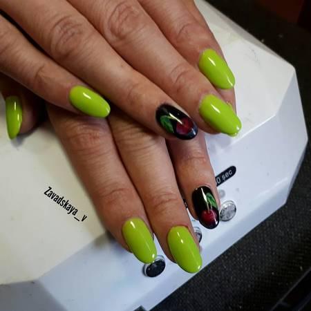 фото красивого летнего дизайна ногтей