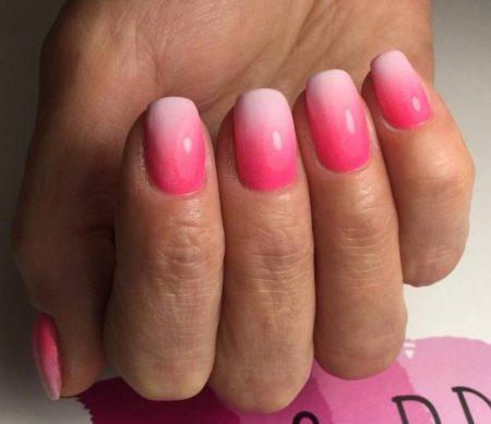Дизайн ногтей аэрогафия розовый