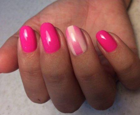 Стильное сочетание белого и розового цветов аэрографом