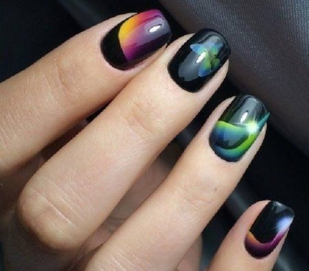 Аэрография на ногтях - 57 фото оригинального дизайна ногтей