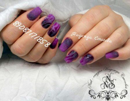 красивые сиреневые ногти фото