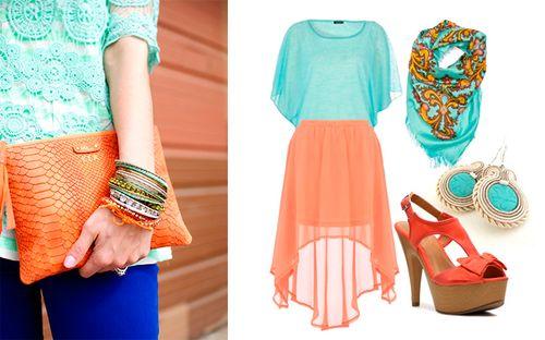 Бирюзовый цвет в одежде: как носить, с чем сочетать