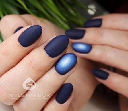 Изысканный и стильный руффиан синий