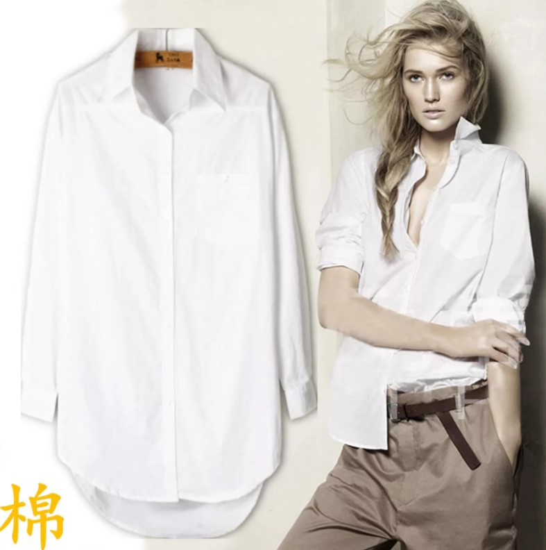 7a2fa3a814f Как и с чем носить мужскую рубашку женщине - Фото дизайна ногтей и ...