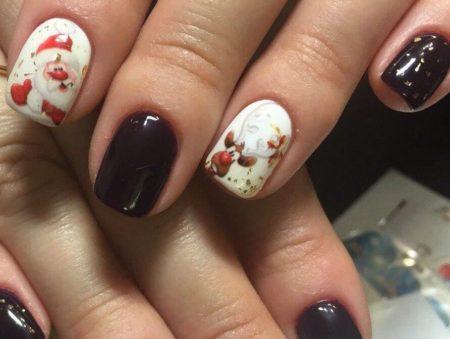 новогодний маникюр ногти