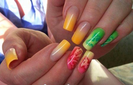 Дизайн ногтей аэрографом: красивые фото аэрографии на ногтях