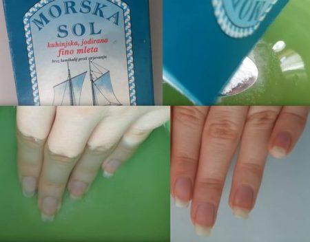 ванночка для ногтей с солью морской