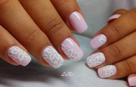 Нежно-розовые ноготки