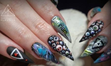 необычные крутые ногти