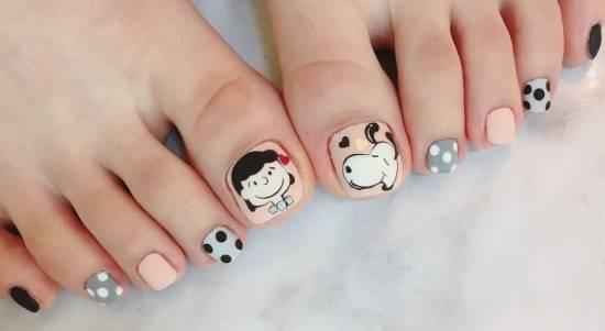 Дизайн педикюра - много фото красивых ногтей