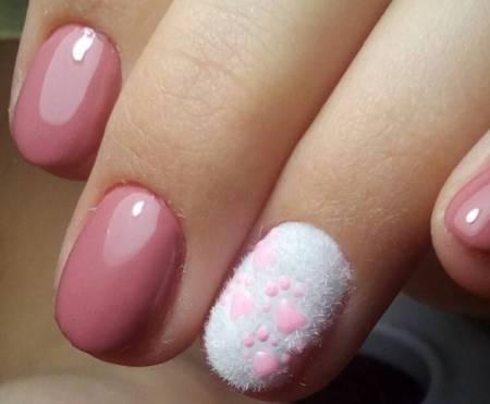 флок на ногтях