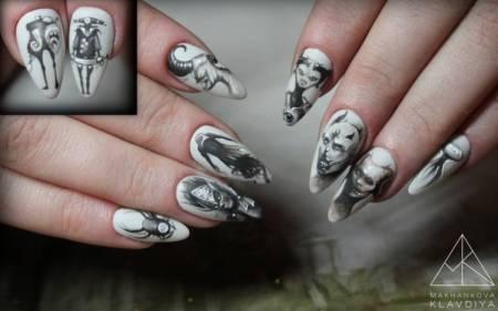 ногти ручная роспись