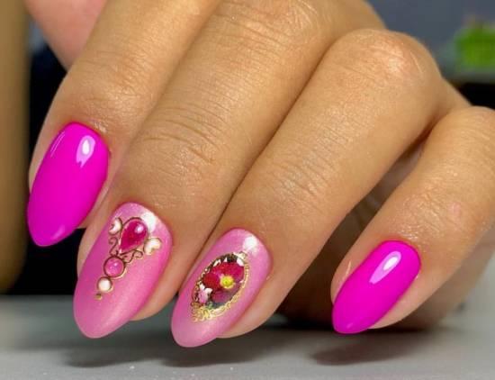 жидкие камни розовый