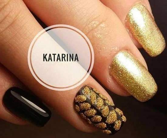 шикарный дизайн с золотом