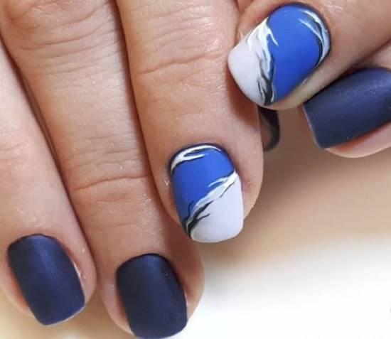 синий дизайн