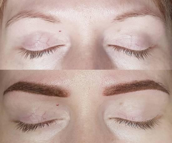 пудровое напыление фото до и после процедуры
