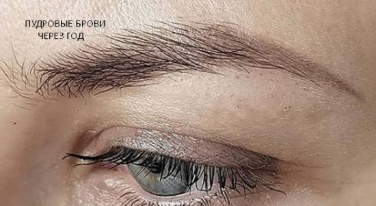 Татуаж бровей с пудровым эффектом – свои брови, только лучше