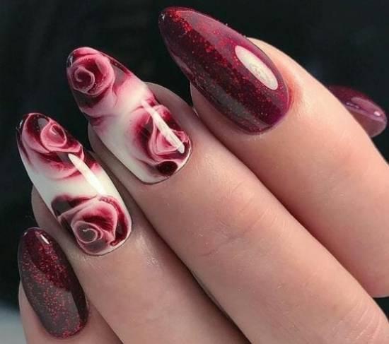 акварельный дизайн розы