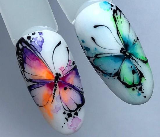 акварельный дизайн бабочки