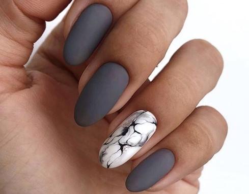 акварель на ногтях мраморный дизайн