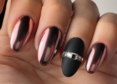 зеркальные ногти