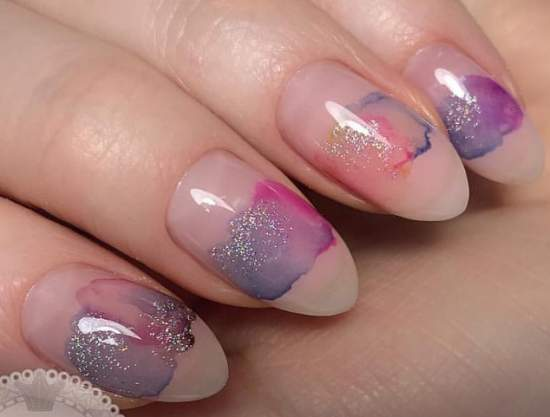 красивые полупрозрачные ногти