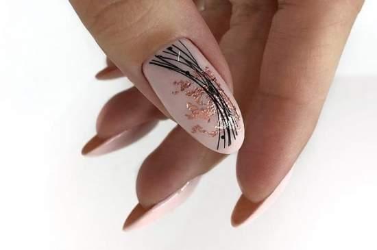 длинные ногти с паутинкой