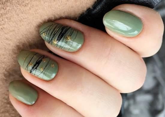 зеленый гель-лак