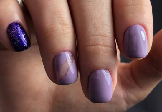 прозрачные ногти с пером